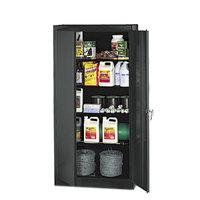 Tennsco 1470BK High Standard 36 inch x 18 inch x 72 inch Black Storage Cabinet