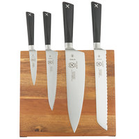 Mercer M21990AC ZÜM 5 Piece Acacia Magnetic Board and Knife Set