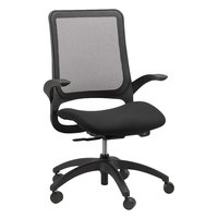 Eurotech MF22 Hawk Series Black Mesh Mid Back Swivel Office Chair