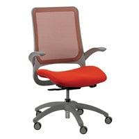 Eurotech MF22 Hawk Series Orange Mesh Mid Back Swivel Office Chair