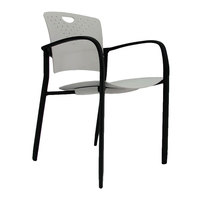 Eurotech STAQGLIDEGRY Staq Series Grey Plastic Chair with Glides