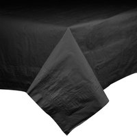 Hoffmaster 220613 54 inch x 108 inch Cellutex Black Tissue / Poly Paper Table Cover   - 25/Case