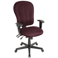 Eurotech FM4080-AT31 4x4 XL Series Burgundy Fabric Mid Back Swivel Office Chair