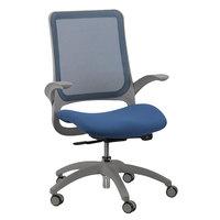 Eurotech MF22 Hawk Series Blue Mesh Mid Back Swivel Office Chair