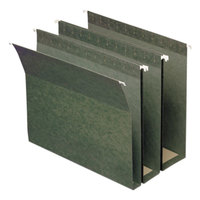 Smead 64260 Letter Size Box Bottom Hanging File Folder - Assorted Expansion, Green - 25/Box