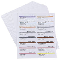 Smead 64915 8 1/2 inch x 14 inch White 3 1/2 inch Viewable Label Pack Refills - 160/Pack