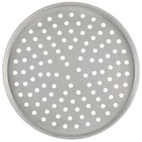 American Metalcraft PT2012 12 inch Perforated Tin-Plated Steel Pizza Pan
