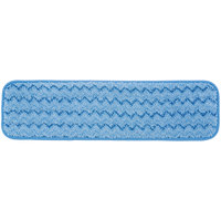 Rubbermaid FGQ41000BL00 HYGEN 18 inch Blue Microfiber Damp Room Mop Pad