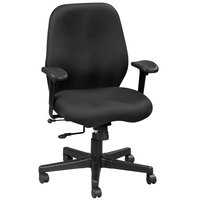 Eurotech FM5505-AT33 Aviator Series Black Mid Back Swivel Office Chair