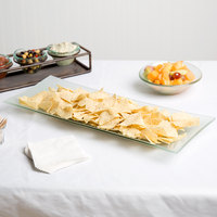 World Tableware BFP-15 20 1/2 inch x 8 inch Rectangular Frosted Glass Tray   - 6/Case