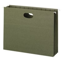 Smead 64226 8 1/2 inch x 11 inch Green Recycled Hanging Pocket with Full Height Gusset - Letter - 10/Box