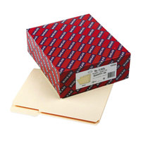 Smead 10434 Letter Size File Folder - Standard Height with Reinforced 1/3 Cut Assorted Tab, Manila - 100/Box