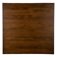 Lancaster Table & Seating 36 inch x 36 inch Solid Wood Live Edge Table Top with Antique Walnut Finish
