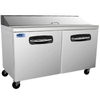Nor-Lake NLSP60-16 AdvantEDGE 60 3/8 inch 2 Door Refrigerated Sandwich Prep Table