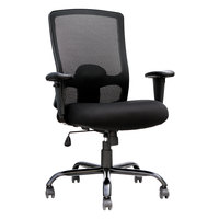 Eurotech BT350 Big and Tall Black Mesh High Back Swivel Office Chair