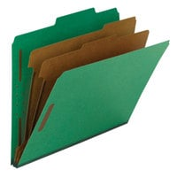 Smead 14063 100% Recycled Heavyweight Letter Size Classification Folder - 10/Box