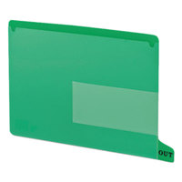 Smead 61952 9 inch x 13 1/4 inch Green Poly Out Guide with Pockets, Letter   - 25/Box