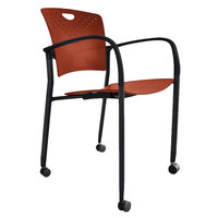 Eurotech STAQCASBRICK Staq Series Brick Plastic Chair with Casters
