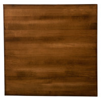 Lancaster Table & Seating 24 inch x 24 inch Solid Wood Live Edge Table Top with Antique Walnut Finish