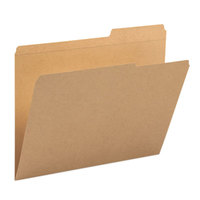 Smead 10786 Letter Size File Folder - Guide Height with Reinforced 2/5 Cut Right Tab, Kraft - 100/Box