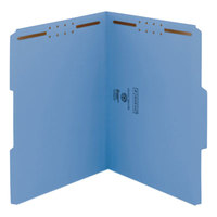 Smead 12042 WaterShed/CutLess Letter Size Fastener Folder with 2 Fasteners - 50/Box