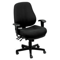 Eurotech 24/7-5806 24/7 Series Dove Black Fabric Mid Back Swivel Office Chair