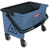 Rubbermaid FGQ93000BLUE Blue 40 qt. No Touch Microfiber Mop / Finish Bucket