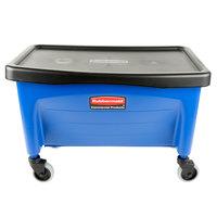 Rubbermaid FGQ93000BLUE Blue 40 qt. No Touch Microfiber Mop / Finish Bucket