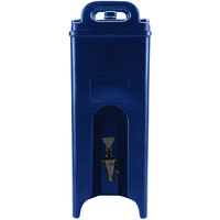 Cambro 500LCD186 Camtainer 4.75 Gallon Navy Blue Insulated Beverage Dispenser