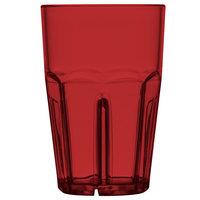 GET 9910-1-R Bahama 10 oz. Red Break-Resistant Customizable Plastic Tumbler - 72/Case