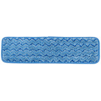 Rubbermaid FGQ41500BL00 HYGEN 18 inch Microfiber Damp Mop Pad with Scrubber