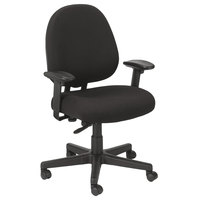 Eurotech FT2700 Cypher Series Black Mid Back Swivel Office Chair
