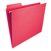 Smead 64096 8 1/2 inch x 11 inch Red 1/3 Tab FasTab Hanging File Folder - Letter - 20/Box
