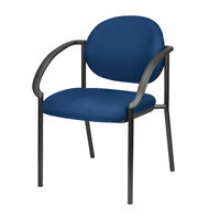 Eurotech 9011-AT30 Dakota Series Navy Curved Arm Chair