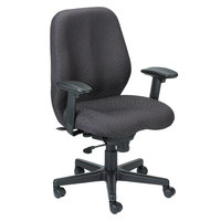 Eurotech FM5505-H5511 Aviator Series Charcoal Mid Back Swivel Office Chair