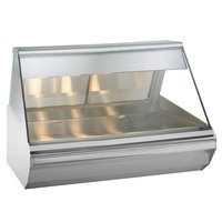 Alto-Shaam EC2-48 S/S Stainless Steel Heated Display Case with Angled Glass - Full Service 48 inch