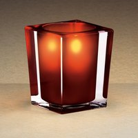 Sterno Products 80242 3 3/4 inch Red and Clear Square Liquid Candle Holder
