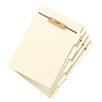 Smead 35605 8 1/2 inch x 11 inch Manila Stackable Side Tab Folder Divider with Fastener - 50/Pack
