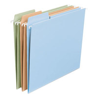 Smead 64054 8 1/2 inch x 11 inch Assorted Fashion Color 1/3 Cut FasTab Hanging File Folder - Letter - 20/Box