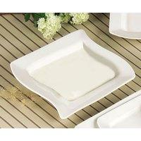 CAC SOH-3 Soho 12 oz. Ivory (American White) Square Stoneware Soup / Pasta Bowl - 24/Case