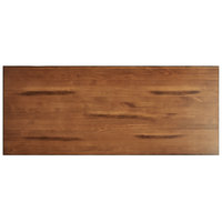 Lancaster Table & Seating 30 inch x 72 inch Solid Wood Live Edge Table Top with Antique Walnut Finish