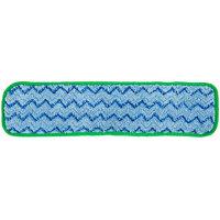 Rubbermaid FGQ41000GR00 HYGEN 18 inch Green Microfiber Damp Room Mop Pad