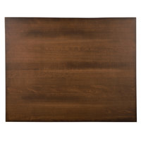 Lancaster Table & Seating 24 inch x 30 inch Solid Wood Live Edge Table Top with Antique Walnut Finish