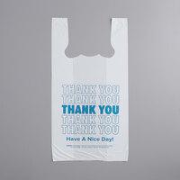 Choice 1/6 Size White Thank You T-Shirt Bag - 1000/Case