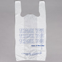 1/6 Size White Thank You T-Shirt Bag - 1000/Case
