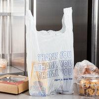 1/6 Size White Thank You T-Shirt Bag - 1000/Case