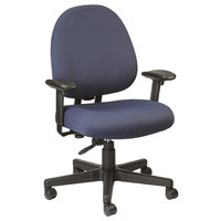 Eurotech FT2700 Cypher Series Navy Mid Back Swivel Office Chair