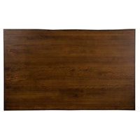 Lancaster Table & Seating 30 inch x 48 inch Solid Wood Live Edge Table Top with Antique Walnut Finish
