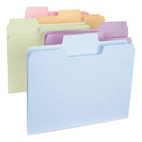 Smead 11961 SuperTab Letter Size File Folder - Standard Height with 1/3 Cut Assorted Tab, Assorted Colors - 100/Box