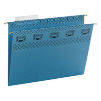 Smead 64041 8 1/2 inch x 11 inch Blue 1/3 Cut Tab Tuff Hanging Folder with Easy Slide Tab - Letter - 18/Box